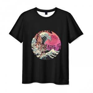 Collectibles Men'S T-Shirt Rad Tiger Wave Hotline Miami Print