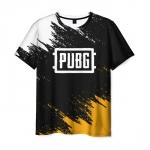 Collectibles Men'S T-Shirt Label Design Pubg Black Merch