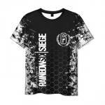 Merchandise Men'S T-Shirt Design Label Rainbow Six Siege Print