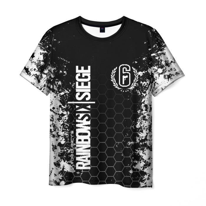 Merch Men'S T-Shirt Design Label Rainbow Six Siege Print