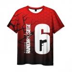Merch Men'S T-Shirt Apparel Rainbow Six Siege Text Number Print