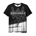 Merch Men'S T-Shirt Watch Dogs Apparel Black Merch
