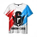 Merch Men'S T-Shirt White Number Rainbow Six Siege Design
