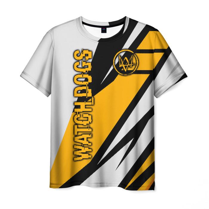 Merch Men'S T-Shirt Print Title Watch Dogs White