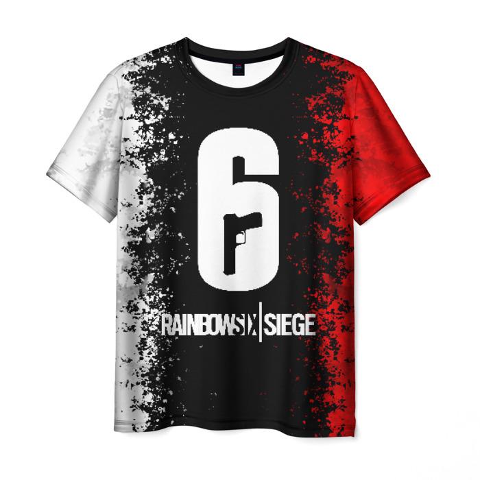 Merch Men'S T-Shirt Merchandise Number Print Rainbow Six Siege