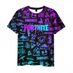 Merchandise Men'S T-Shirt Fortnite X Marshmello Gradient Print