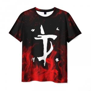 Collectibles Men'S T-Shirt Doom Slayer Sign Print Black