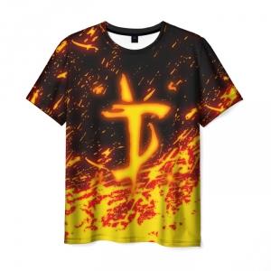Collectibles Men'S T-Shirt Flame Print Sign Doom Slayer Doom
