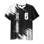 Collectibles Men'S T-Shirt Black Graphic Merch Rainbow Six Siege