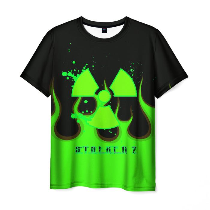 Collectibles Men'S T-Shirt Green Flame Design Merch Stalker