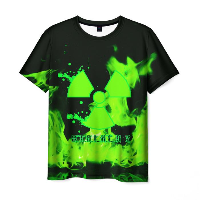 Merch Men'S T-Shirt Green Fire Print Stalker Merch