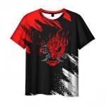 Merch Men'S T-Shirt Samurai Merch Cyberpunk Print