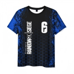 Merch Men'S T-Shirt Text Print Black Rainbow Six Siege