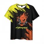 Merch Men'S T-Shirt Merchandise Black Samurai Cyberpunk