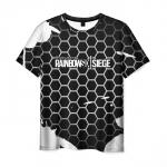 Collectibles Men'S T-Shirt Black Honeycombs Text Rainbow Six Siege