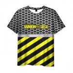 Merch Men'S T-Shirt Yellow Lines Print Rainbow Six Siege