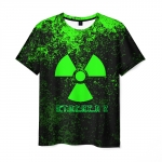 Merch Men'S T-Shirt Green Emblem Stalker Print