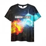 Collectibles Men'S T-Shirt Battle Of The Elements Print Rainbow Six Siege