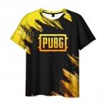 Merchandise Men'S T-Shirt Black Title Design Pubg