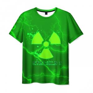 Collectibles Men'S T-Shirt Green Merch Stalker Print