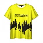 Merch Men'S T-Shirt Yellow Title Rainbow Six Siege Print