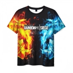 Merch Men'S T-Shirt Black Merch Rainbow Six Siege Design