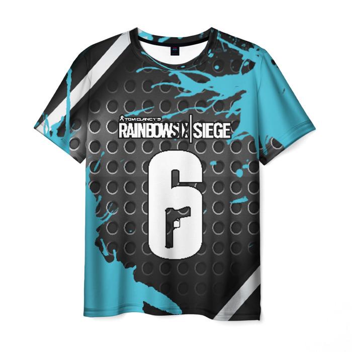 Collectibles Men'S T-Shirt Number Text Rainbow Six Siege Black