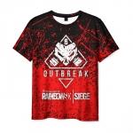 Merchandise Men'S T-Shirt Rainbow Six Siege Emblem Merch Text
