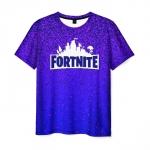Merchandise Men'S T-Shirt Blue Gradient Fortnite Print