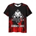 Merch Men'S T-Shirt Outbreak Print Rainbow Six Siege