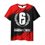 Collectibles Men'S T-Shirt Figure Text Rainbow Six Siege Print