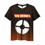 Merch Men'S T-Shirt Black Team Fortress Print Pattern