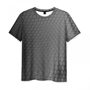 Merch Men'S T-Shirt Knight'S Mail Witcher Gray Pattern