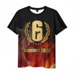 Merchandise Men'S T-Shirt Rainbow Six Siege Title Image Print