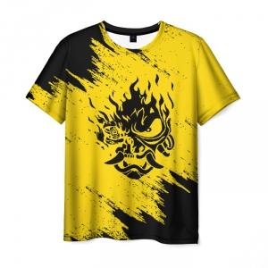 Collectibles Men'S T-Shirt Yellow Merch Samurai Game Cyberpunk