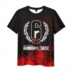 Collectibles Men'S T-Shirt Apparel Rainbow Six Siege Print Design