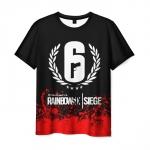Merchandise Men'S T-Shirt Image Merch Rainbow Six Siege Design