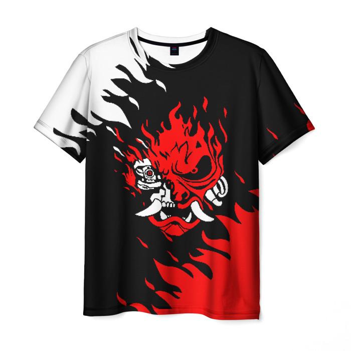 Merchandise Men'S T-Shirt Design Samurai Cyberpunk Image