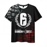 Merchandise Men'S T-Shirt Title Rainbow Six Siege Design