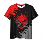 Collectibles Men'S T-Shirt Cyberpunk Merch Samurai Design