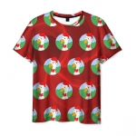 Collectibles Men'S T-Shirt Untitled New Year Goose Red Pattern