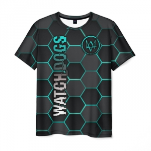 Collectibles Men'S T-Shirt Watch Dogs Bee Honeycombs Print