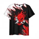 Merchandise Men'S T-Shirt Samurai Face Print Cyberpunk