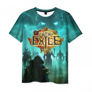Merchandise Men'S T-Shirt Path Of Exile Merch Print