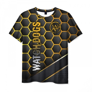 Collectibles Men'S T-Shirt Watch Dogs Bee Print Black
