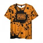 Merchandise Men'S T-Shirt Pubg Spots Orange Print