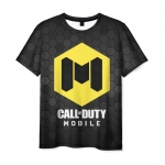 Collectibles Men'S T-Shirt Call Of Duty Game Black Emblem Sign