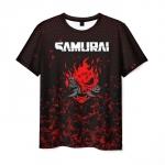 Merchandise Men'S T-Shirt Game Cyberpunk Print Samurai Merch