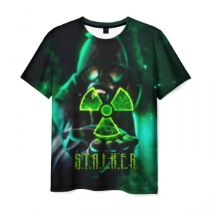 Collectibles Men'S T-Shirt Game Image Stalker Green Print