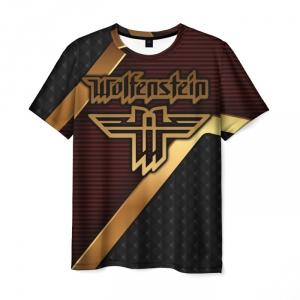 Collectibles Men'S T-Shirt Merch Game Wolfenstein Print